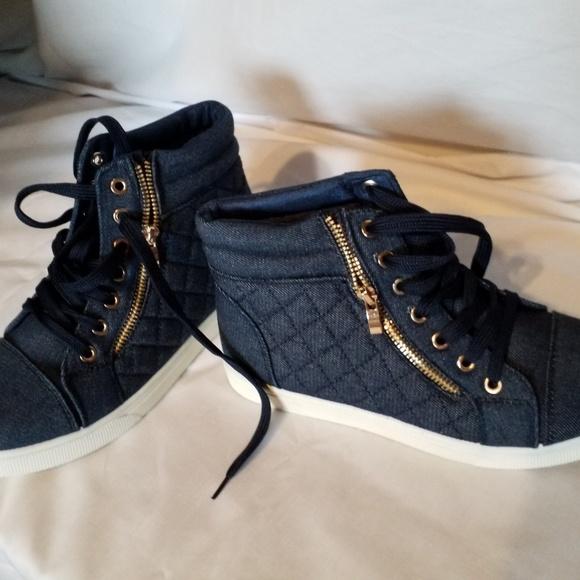 Soho Girls High Top Jean Sneakers